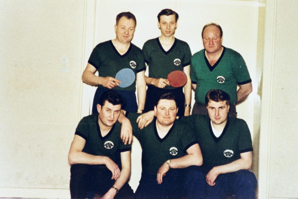 Erste Mannschaft des TTC 1962